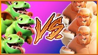 BOXER GIANT vs BABY DRAGON | Troop vs Troop | Clash of Clans