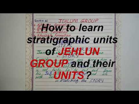 How to learn stratigraphic units of jehlum group and thier c