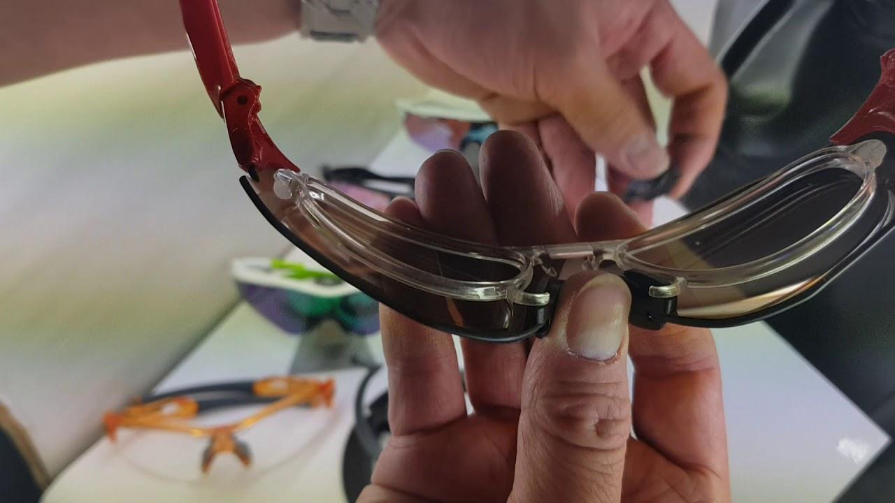 c415780682 Oakley Prescription clip for EV Zero sports sunglasses - YouTube