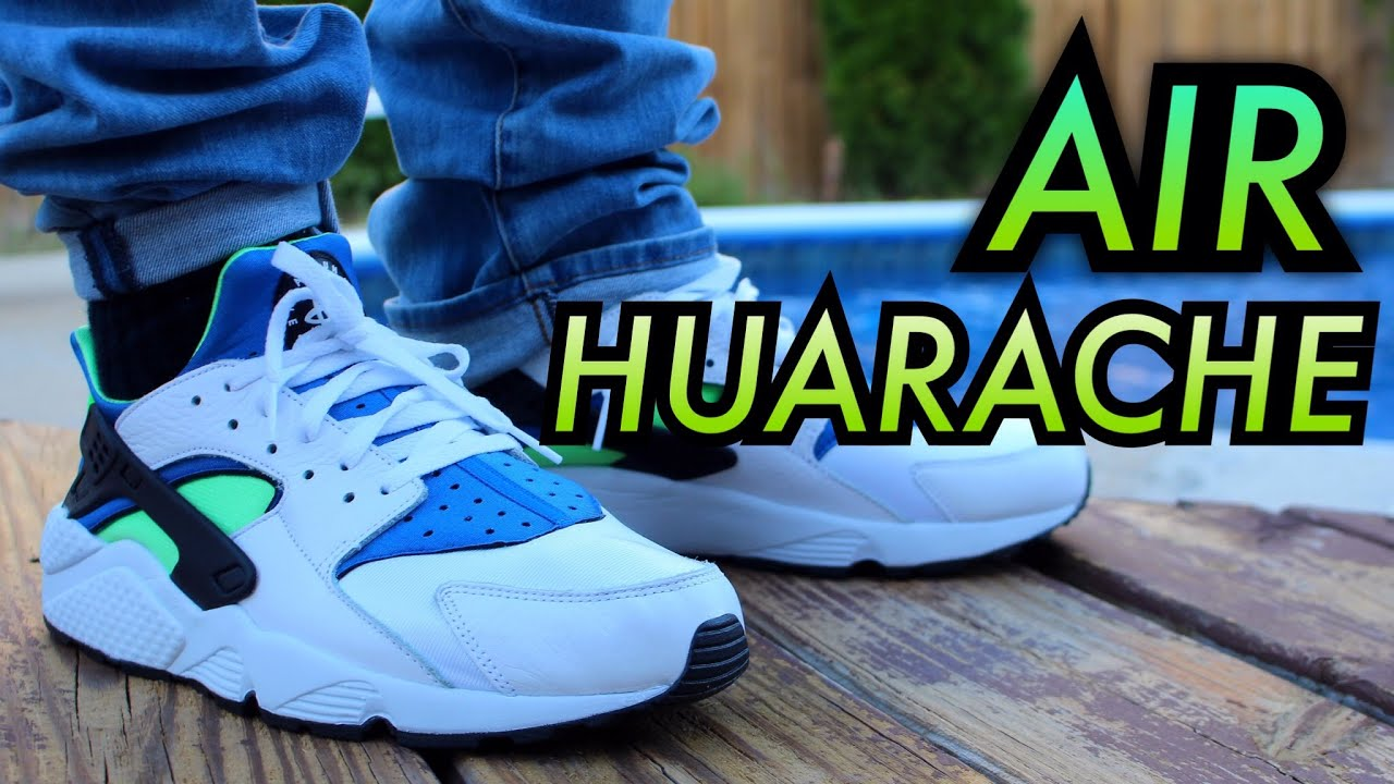 Air Huarache White Scream Green