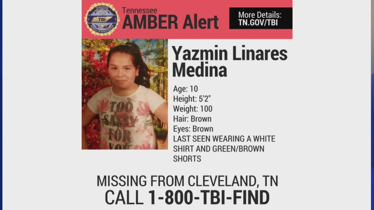 Statewide Amber Alert issued for Cleveland, TN girl