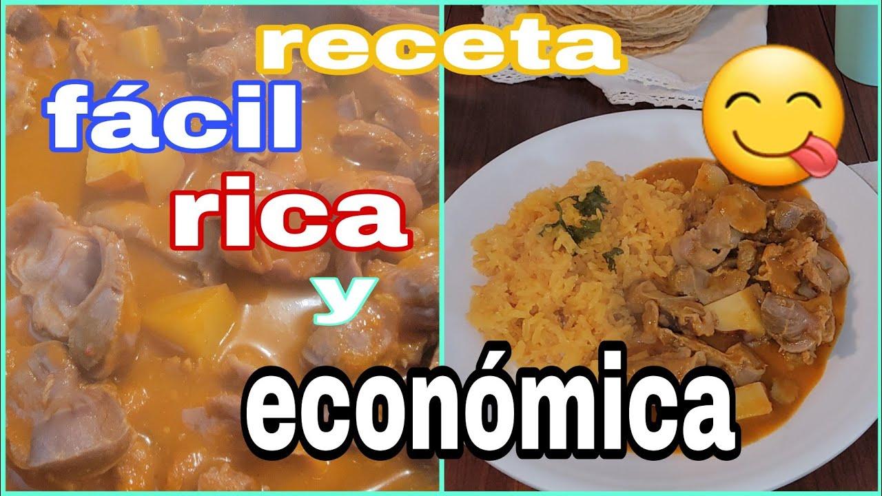 receta económica y muy rica | mollejas en salsa de chile morita y papas