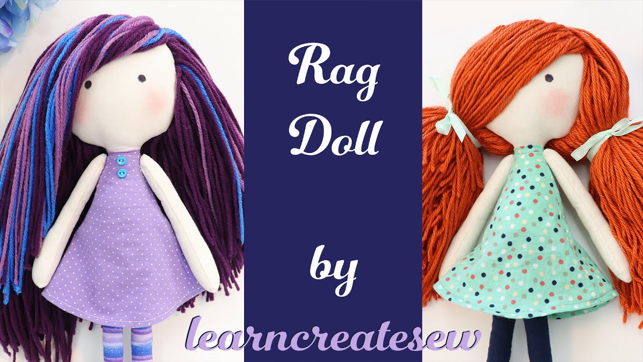 How to Sew a Rag Doll: PART 1: Constructing the Body by learncreatesew