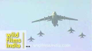 Mid air refuelling in action, by the Indian Air Force!