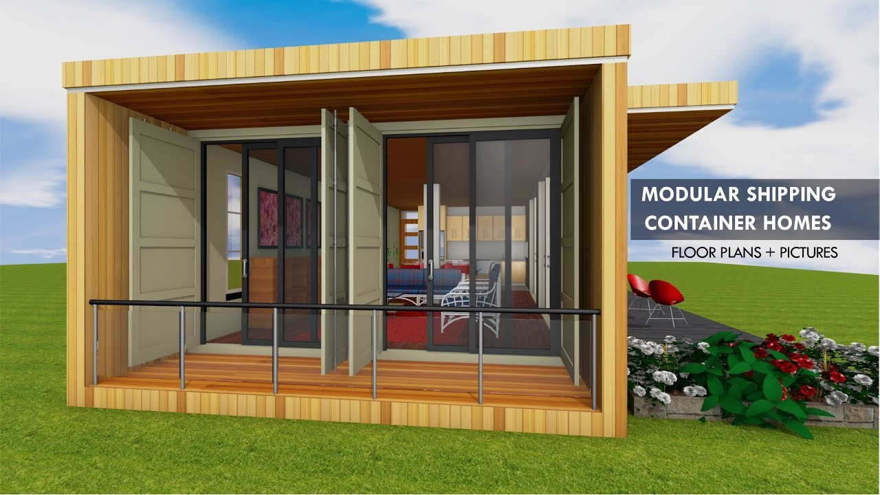 Prefab Shipping Container Homes Module For Open Plan Living Space By