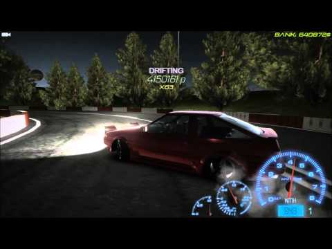 Drift Streets Japan (Game) AE86 Gameplay with Eurobeat  