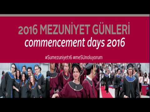 Sabanci University Commencement 2016