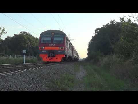 Электропоезд ЭД9М-0127 с сообщением № 6015 Краснодар-1 — Горячий Ключ