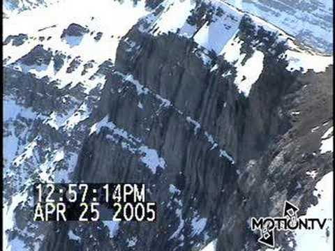 MotionTVSnowmobile Cliff Jumping YouTube - This is what happens when you fly a snowmobile off a cliff