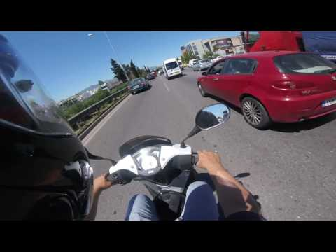 motovlog driving in the streets of Athens 6/7/2017