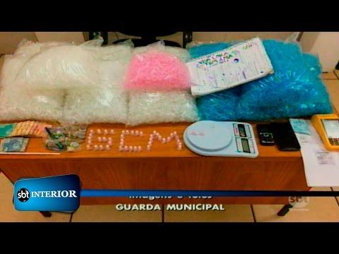 GM prende homem com droga e material usado para o tráfico em Rio Preto