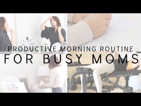 productive-morning-routine-for-busy-moms