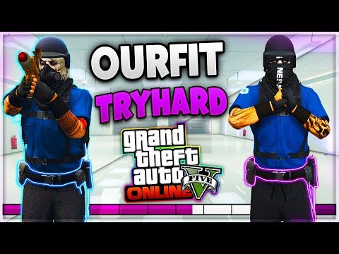GTA 5 ONLINE 1.42 ✘ SUPER TRAJE CON CINTURON DE POLICIA OUTFIT TRYHARD MODDED OUTFIT [PS4]