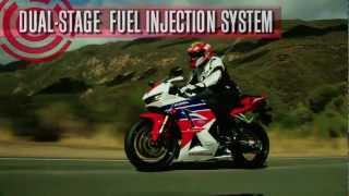 2013 Honda CBR600RR Tech Talk(Video review of the new features of Honda's 2013 CBR600RR. We've given the CBR600RR some major updates, including new 12-spoke wheels, revised ECU ..., 2012-12-12T16:43:41.000Z)