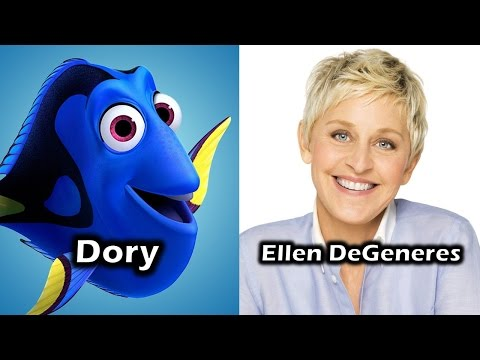 Characters And Voice Actors - Finding Dory