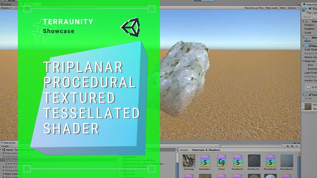 Unity Triplanar Procedural Textured Tessellated Shader With Realtime Geom  Blending On Terrain