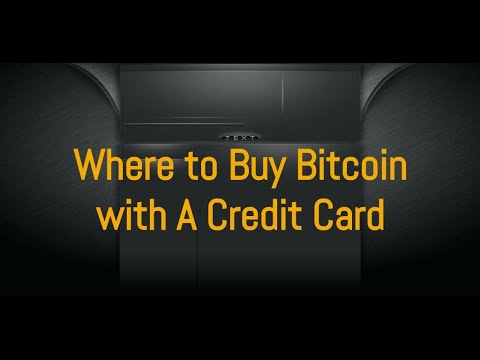 Where To Buy Bitcoin With A Credit Card