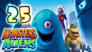 Monsters VS Aliens Walkthrough Part 25 (PS3, X360, Wii, PS2) ~ Ginormica Level 25 *Ending*