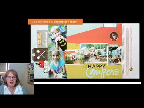 Ideas For Scrapbook Page Titles Youtube