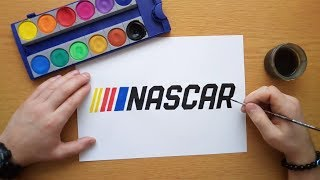 How to draw the Nascar logo