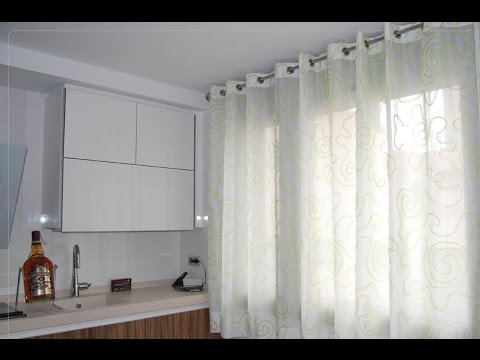 como hacer cortinas corredizas youtube