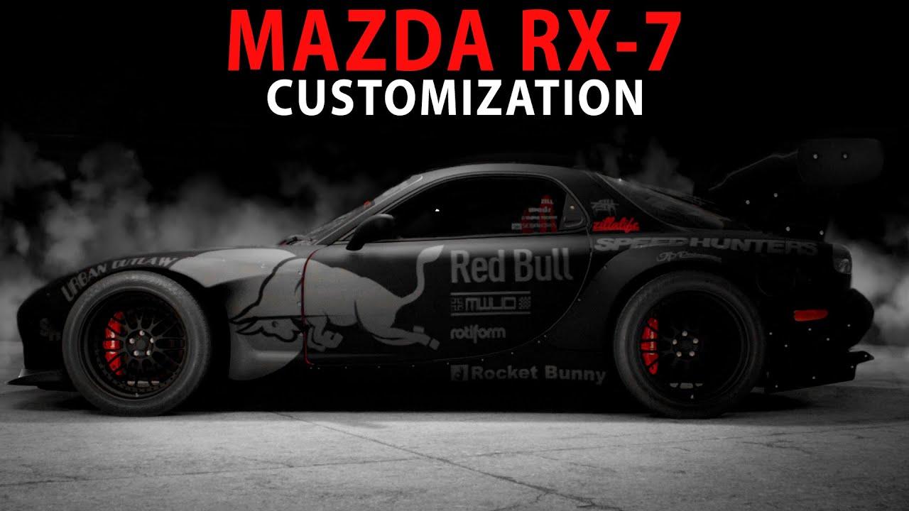 Mazda Rx7 2015 >> NFS 2015 - RedBull RocketBunny Mazda RX-7 (Cinematic ...