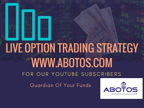 (Hindi) Upto Rs 12,000 Profit - LIVE Options Strategy By ABOTOS