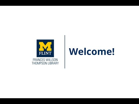 Welcome to Thompson Library at UM-Flint!