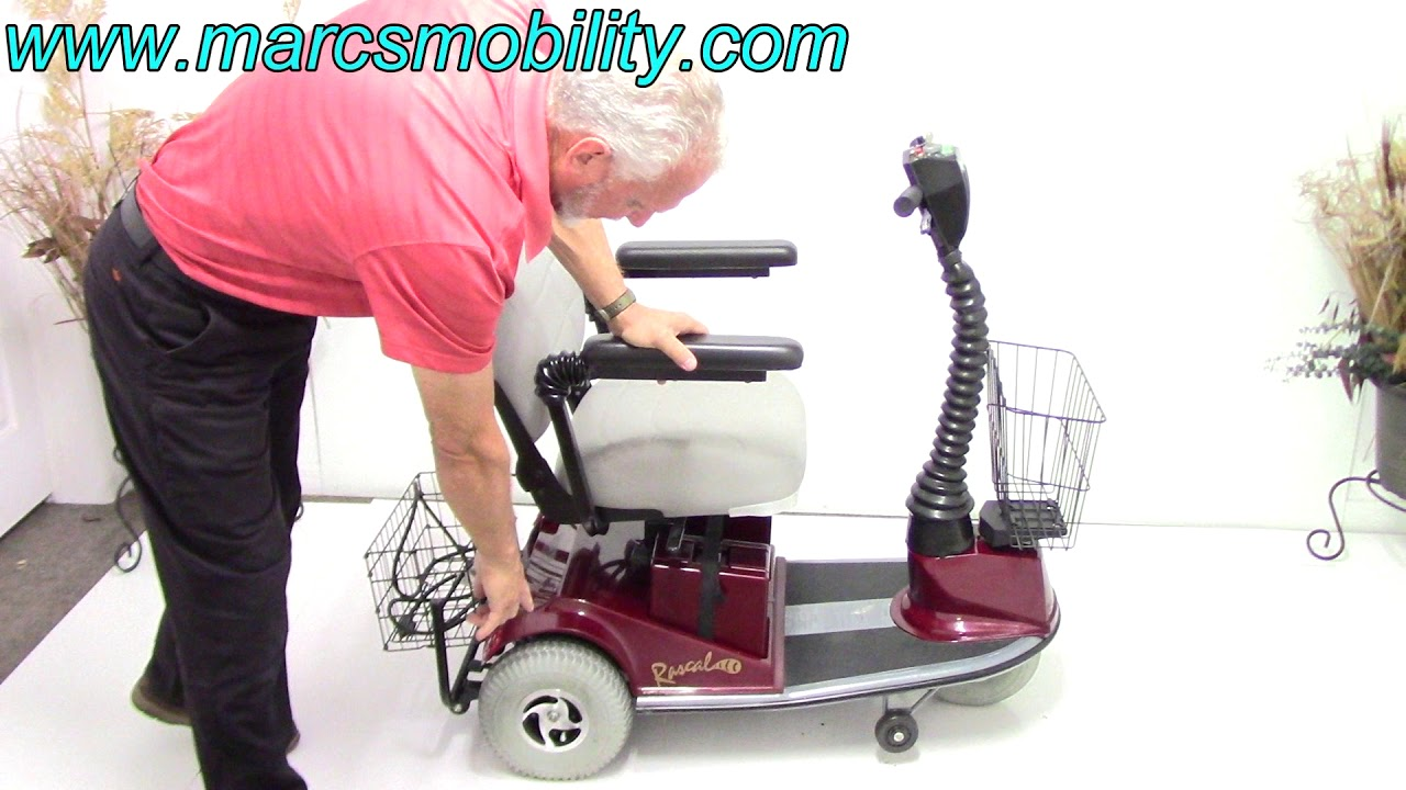 rascal 235 electric scooter with seat lift 854 marc s mobility [ 1280 x 720 Pixel ]