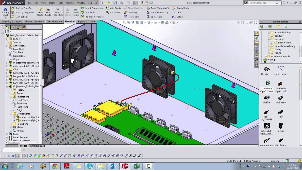 How To Find Wire Lengths Using Solidworks Routing