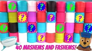HUGE 40 Mystery Mashems and Fashems Show
