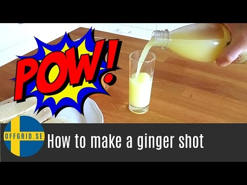 How to make a ginger shot