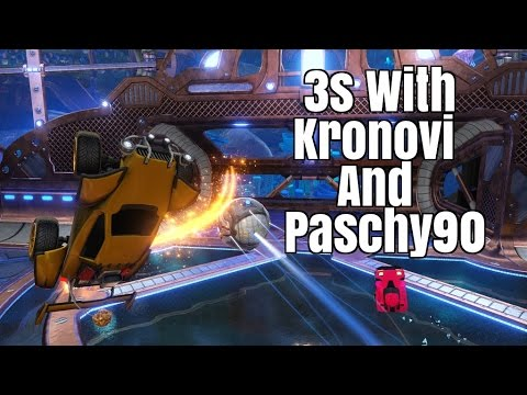 Squishy Muffin Rocket League : Rocket League - 3s With Kronovi And Paschy - YouTube