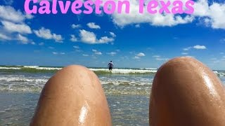 Hangin Out On The Beach In Galveston Texas!