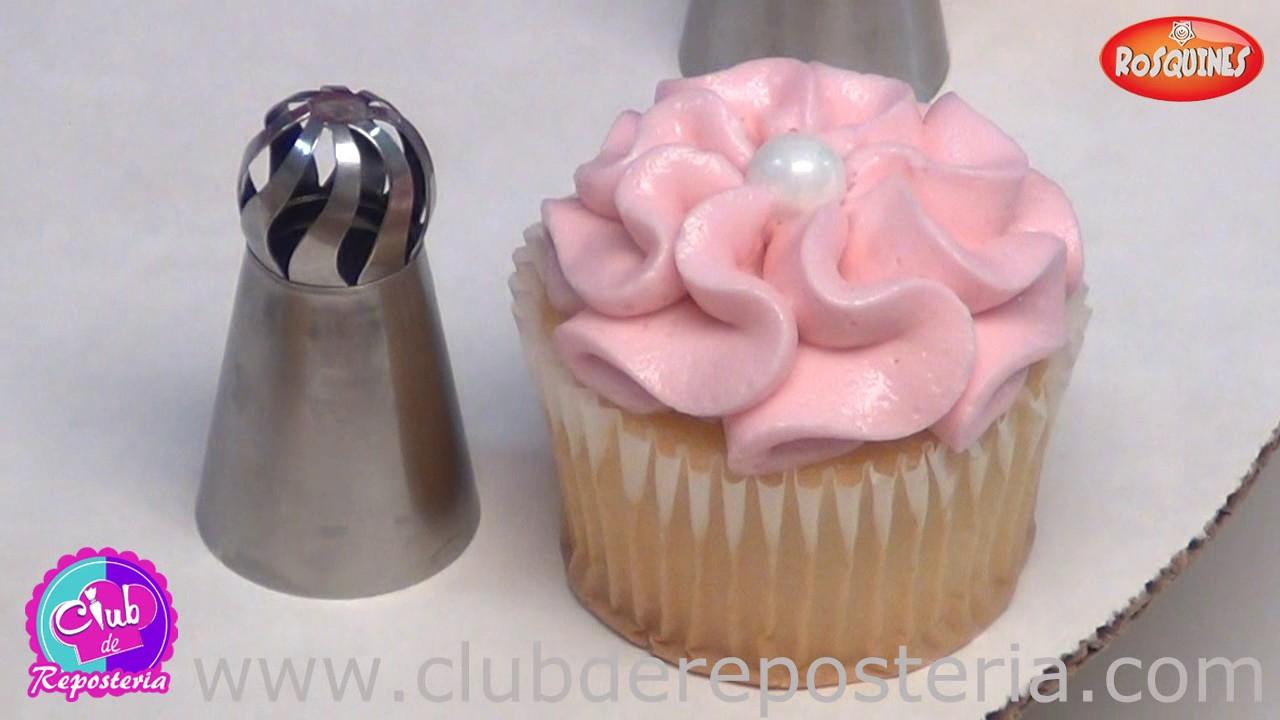 Cupcakes decorados con boquillas rusas de esfera club de - Como decorar una ensaladilla rusa ...