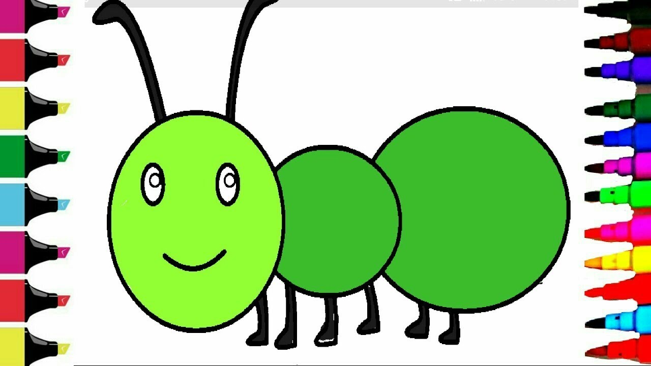 how to draw an ant for kids