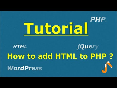 PHP Tutorials: How to add HTML code to PHP
