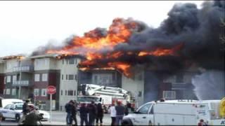 Calgary Millrise Condo Fire, March 18th (3 Alarm Fire)