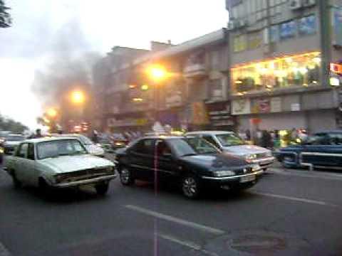 Fire In Tajrish Square Tehran