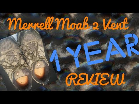 Merrell moab 2 vent 1 year review