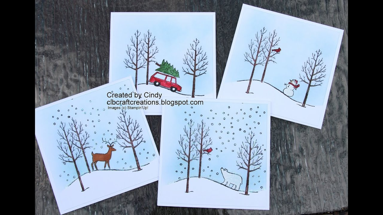 Wonderful Christmas Card Making Ideas 2014 Part - 7: 2014 Holiday Card Series Day 7 Featuring Stampinu0027 Up White Christmas -  YouTube