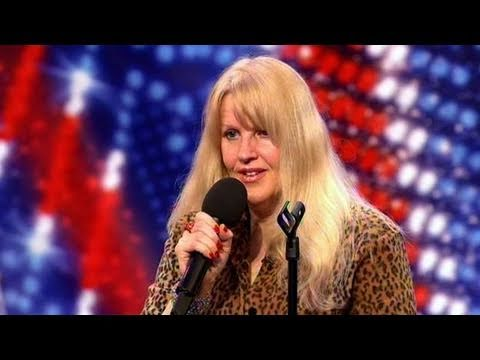 Torturous cringe, woman tries to be a comedian on Britain's Got Talent. this actually kind of hurt