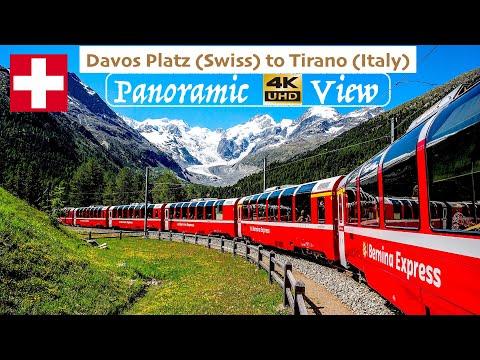 The Bernina Express - World's Most Beautiful Train's Panoramic 4K Video