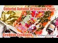 Whimsical, colorful Autumn Artjournal Page