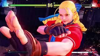 STREET FIGHTER V Karin vs Sakura