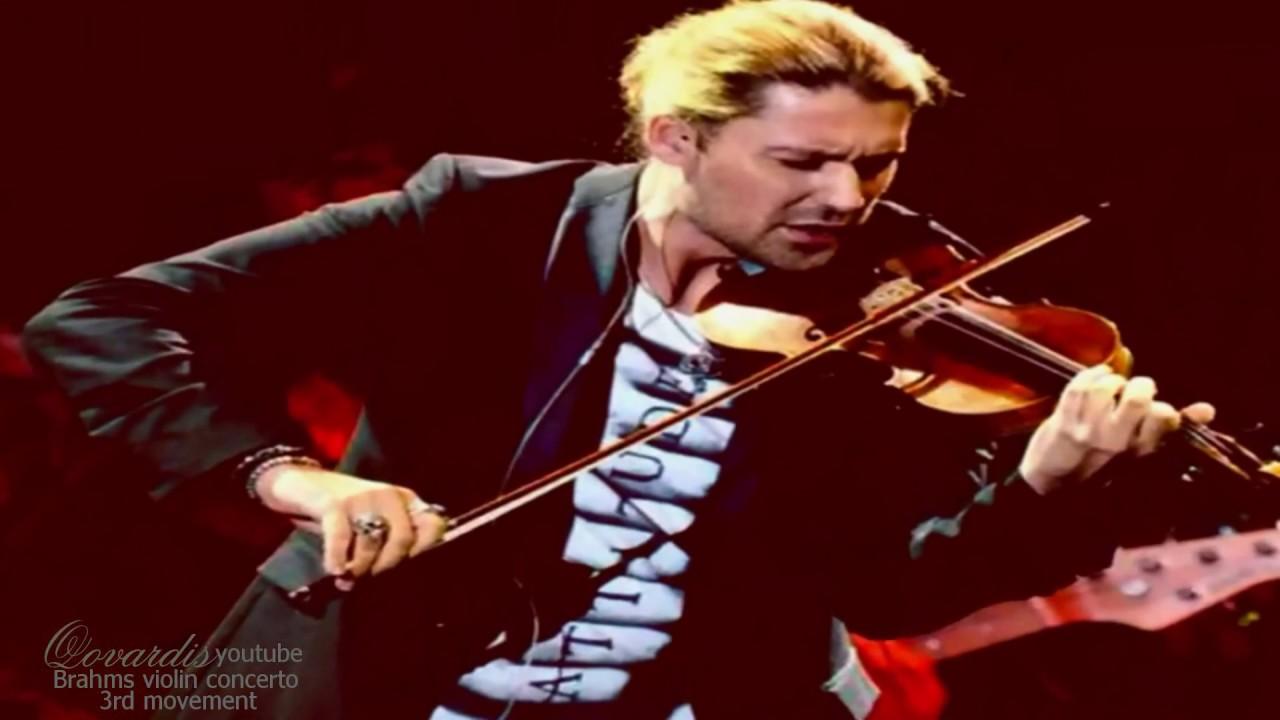 David Garrett (photos) Brahms violin concerto 3rd movement  New 2019