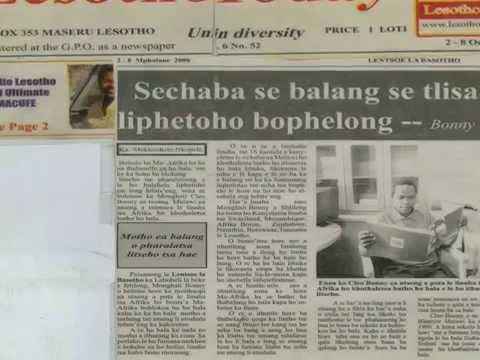 Lesotho today maseru Cleo Bonny reading ambassador