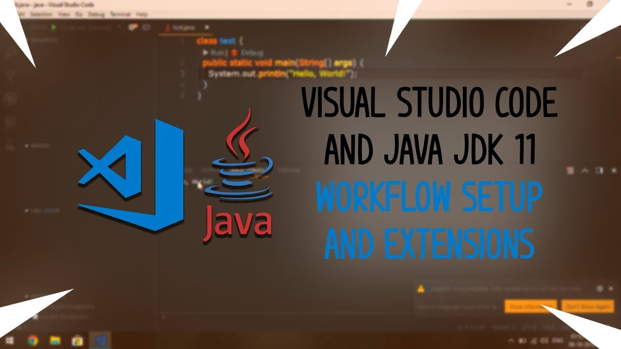 Visual Studio Code and Java JDK 11 Workflow with Extensions