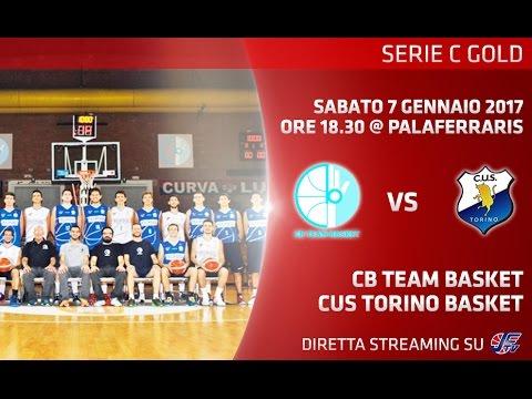 [Serie C Gold] C.B. Team Basket - CUS Torino LIVE