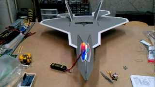 F-22 RC plane made of Depron foam